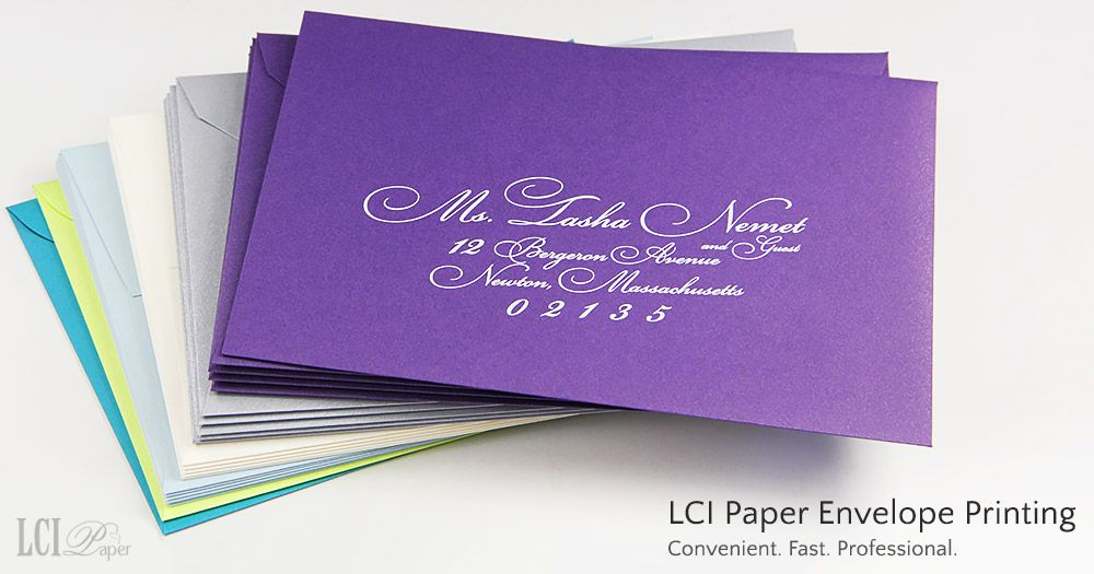 how to return address wedding envelopes%0A LCI Paper envelope printing and addressing services are fast  convenient   professional