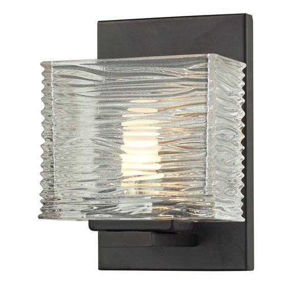 Photo of Z-Lite Jaol 7.12 inch x 5.25 inch bronze 1-Light Vanity Light