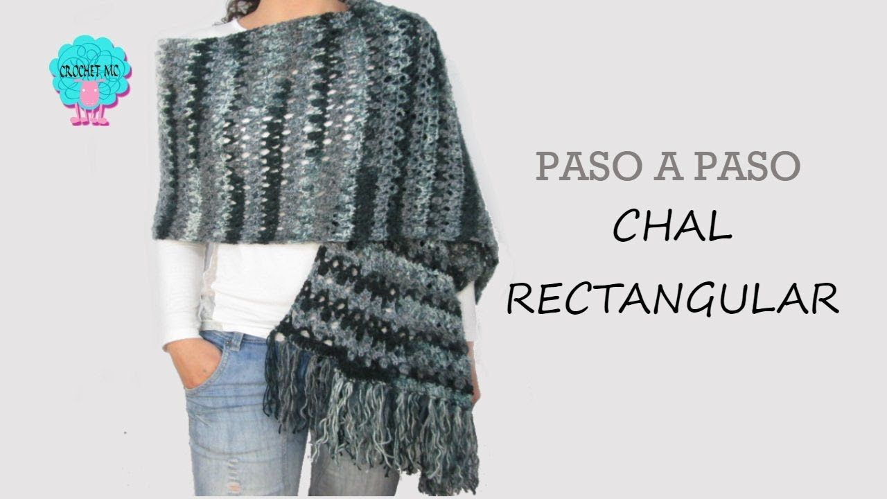 Tutorial Chal rectangular a crochet | Crochet Shawls | Pinterest ...