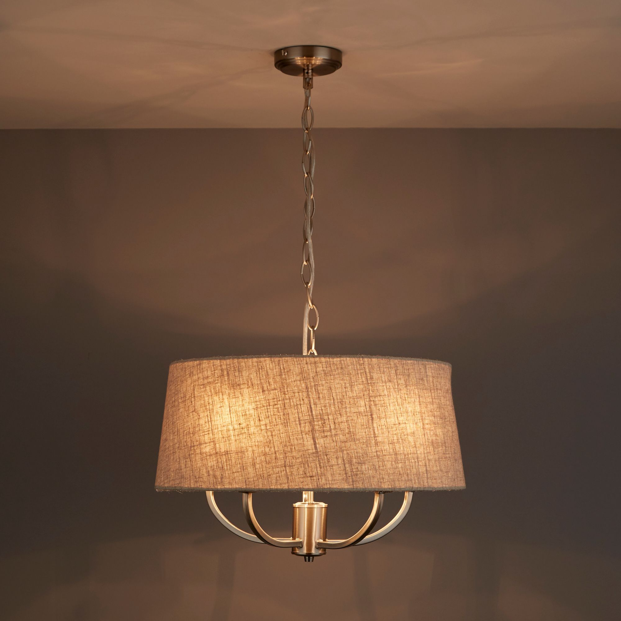 Hampstead natural linen effect 5 lamp ceiling light natural linen hampstead natural linen effect 5 lamp ceiling light departments diy at bq aloadofball Choice Image