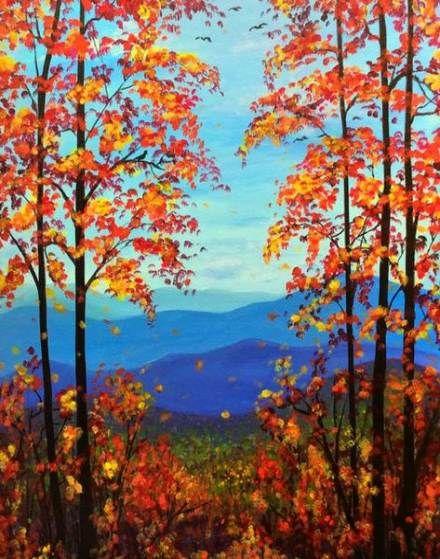 53 Ideas Painting Ideas Landscape Canvases Painting Canvas Painting Landscape Fall Canvas Painting Fall Landscape Painting