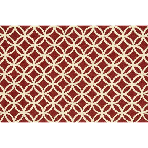 Venice Beach Red and Ivory Rectangular: 3 Ft 6 In x 5 Ft 6 In Rug - (In Rectangular)