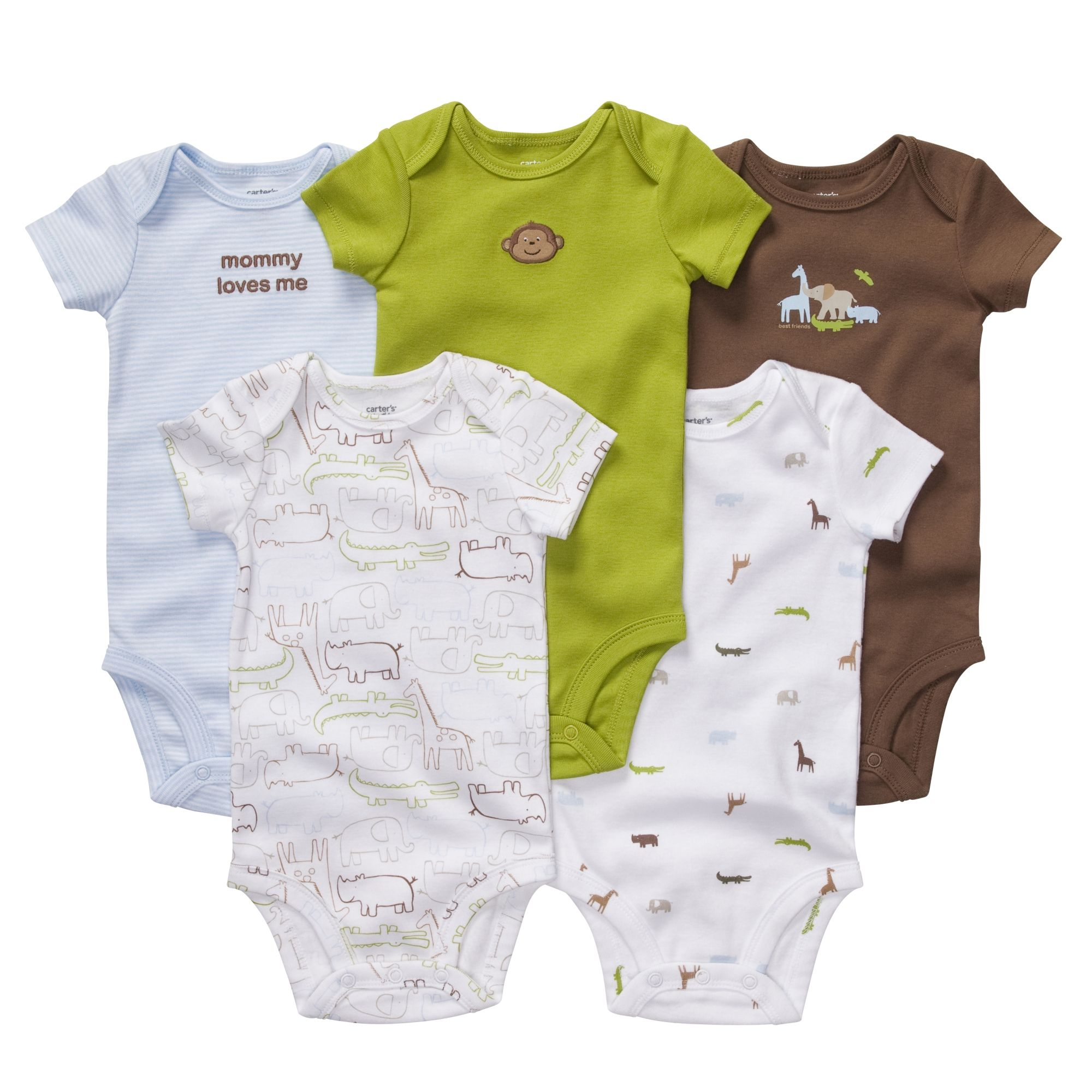 3d3127a77 Short Sleeve 5-Pack Bodysuits | Baby Boy Baby Sale - Carter matches amuse  studio little peanuts stamp set