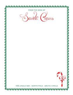 FREE Download of Santa's Letterhead!  www.deen-creative.com