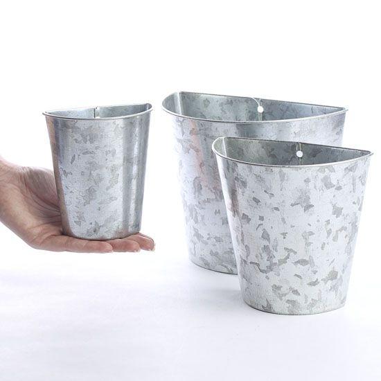 Galvanized Tin Wall Pockets Baskets Buckets Boxes Home Decor Galvanized Tin Walls Tin Walls Galvanized Decor