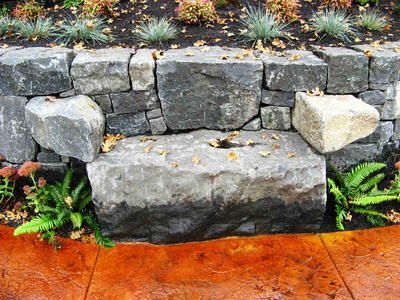 Natural Stone Bench Misc Stone Projects We Like Stone Landscaping Stone Bench Landscaping Inspiration