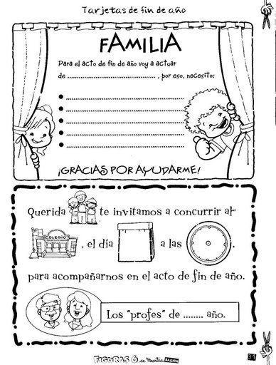 educpreescolar.blogspot.com invitaciones | Tarjetas de navidad para ...