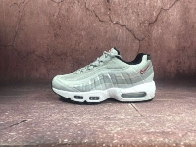 683855656becf0 Mens Womens NEW Nike Air Max 95 Premium QS Metallic Silver Brand White  918359-001