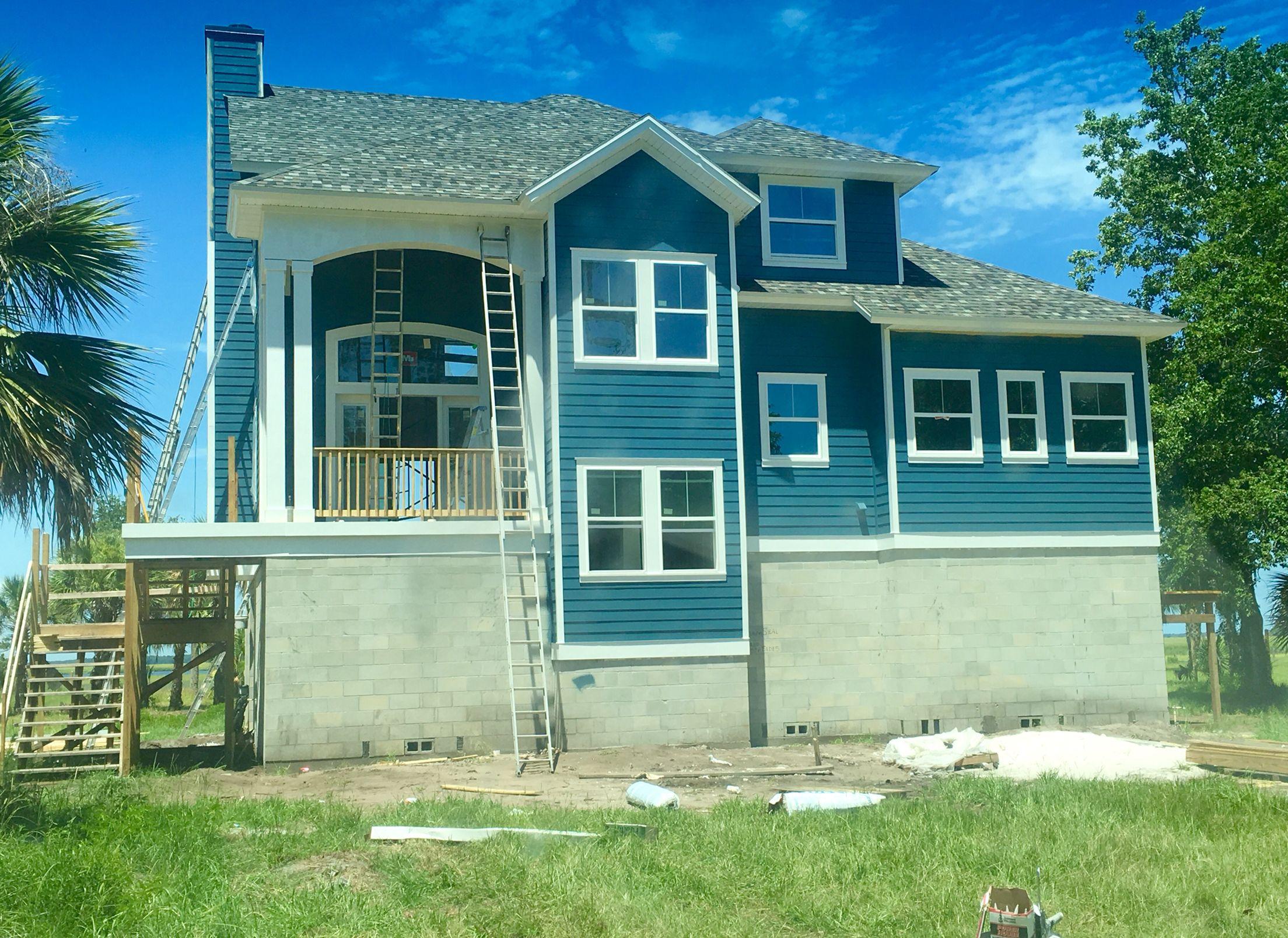 Sherwin williams basket beige exterior - Sherwin Williams Sw Bunglehouse Blue Country Coastal Home