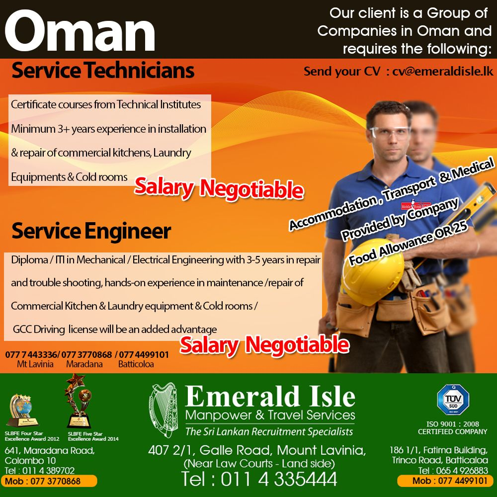 Pin by Emerald Isle Manpower & Travel on Foreign Vacancies