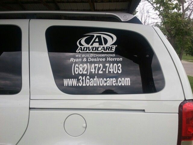 Our van decal to get the word out about advocare