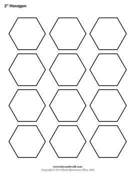 Blank Hexagon Templates Hexagon Quilt Pattern Hexagon Patchwork