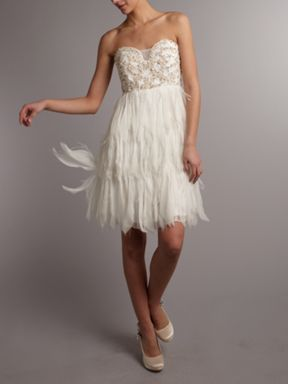 Cher Feather Short Top Wedding Dresses Knee Length Wedding Dress Wedding Dresses Uk