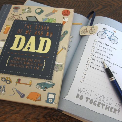 Story of Me & My Dad Illustrated Keepsake Memory Journal   Thoughtful Gifts for Dads   Fathers   Dad