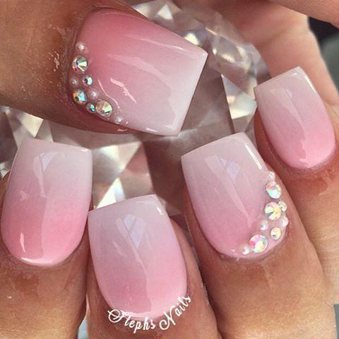47 Most Amazing Ombre Nail Art Designs Rhinestone Nails Square