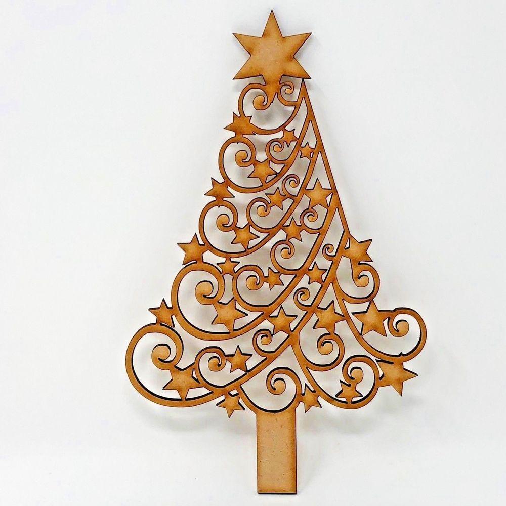 Laser Cut Wood MDF Dragon Shape Rustic Christmas, Personalised Craft