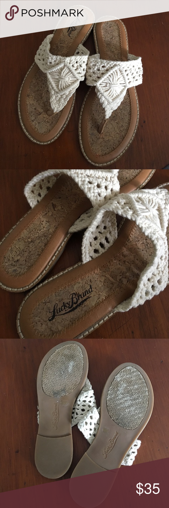 Lucky Brand Sandals Super cute Lucky Brand sandals. Great condition Lucky Brand Shoes Sandals