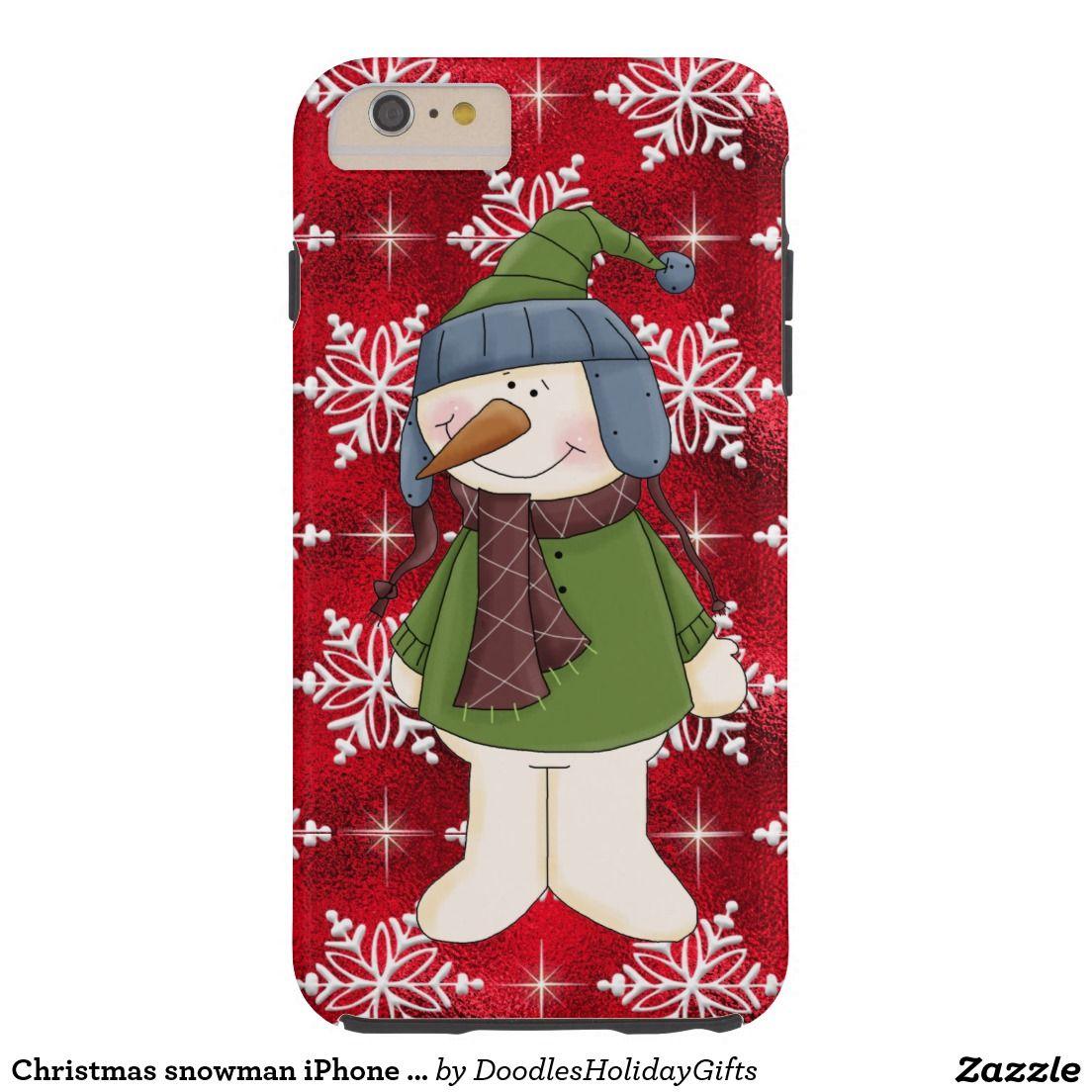 Christmas snowman iPhone 6 plus tough case Tough iPhone 6 Plus Case