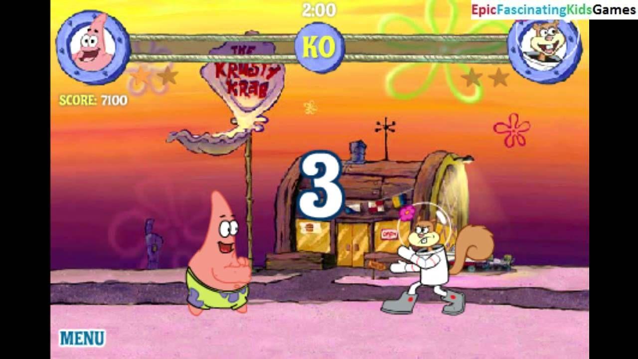 sandy cheeks vs patrick star in a spongebob squarepants reef
