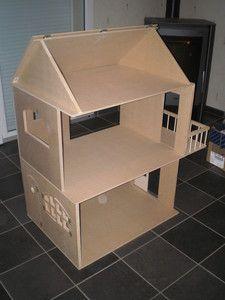 maison barbie 02 poup e papier maison de carton pinterest doll houses dolls and house. Black Bedroom Furniture Sets. Home Design Ideas