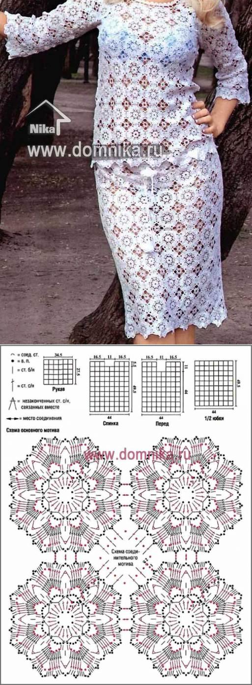 ПЛАТЬЯ , САРАФАНЫ, КАРДИГАНЫ,ТУНИКИ, КОСТЮМЫ КРЮЧКОМ | Crochet ruso ...
