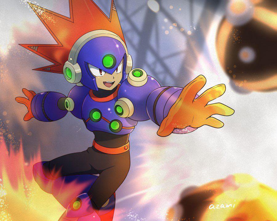 棘城アザミ On Twitter Mega Man Mega Man Art Megaman 11