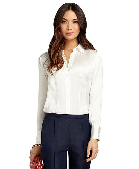 5e28959543a94 Petite Silk Georgette Blouse - Brooks Brothers