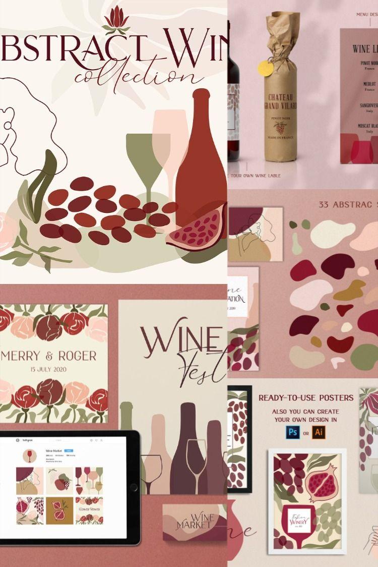 Abstract Wine Collection Bonus Wine Collection Wine Wine Decor