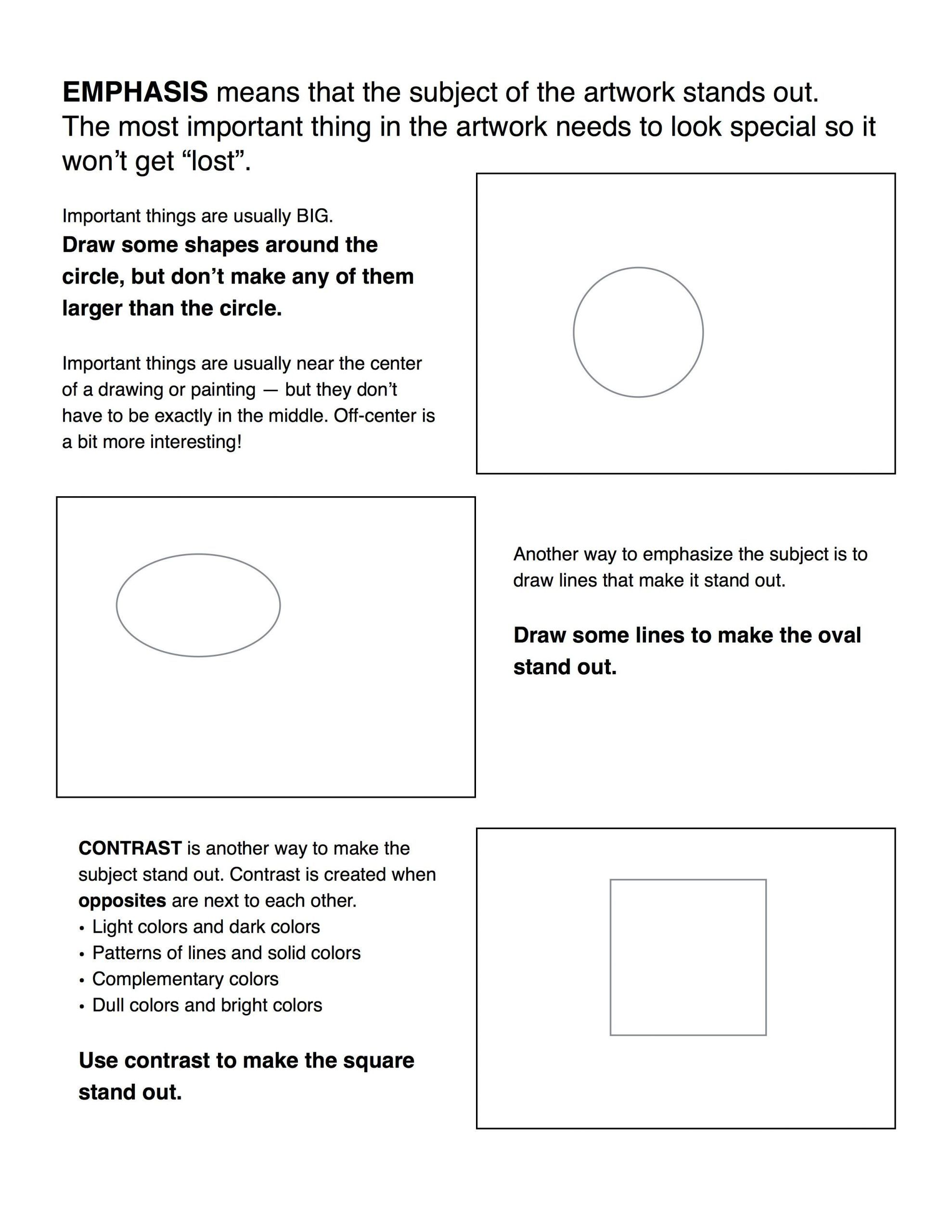 6th Grade Art Worksheets In