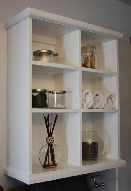 bathroom wall storage do it yourself home projects from ana white for the home pinterest. Black Bedroom Furniture Sets. Home Design Ideas