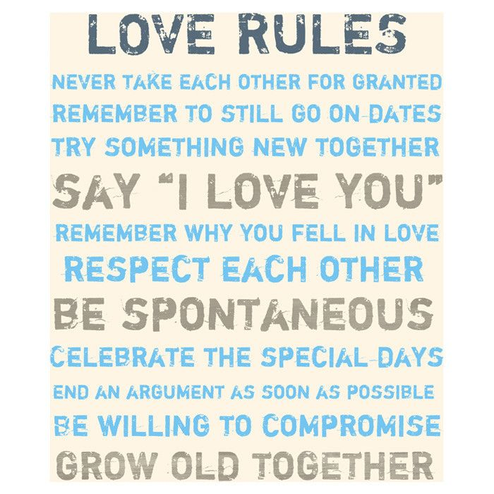 Love Rules Canvas Art | \