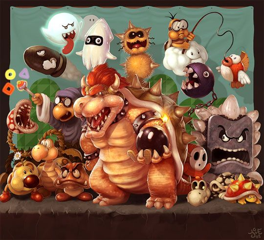 Bowser And His Minions