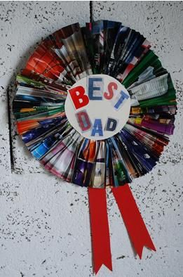 Have Fun Making This Best Dad Rosette Project For Fathers Day