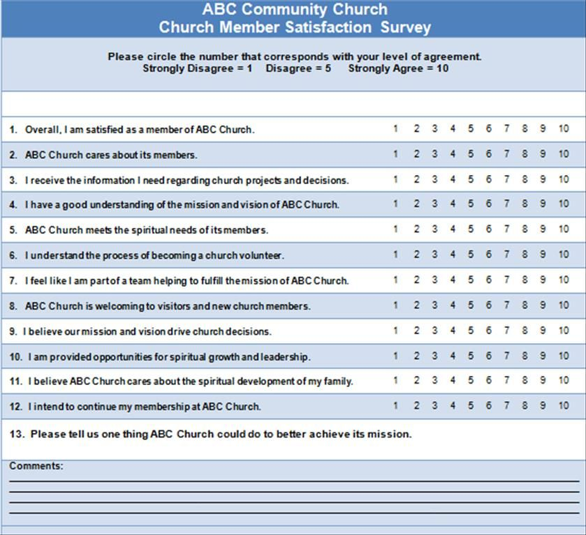 13 Sample Church Survey Questions This Or That Questions Survey