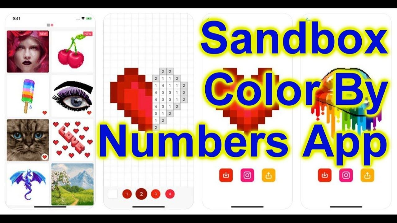 - Sandbox - Color By Numbers Coloring App For Cell Phone (With