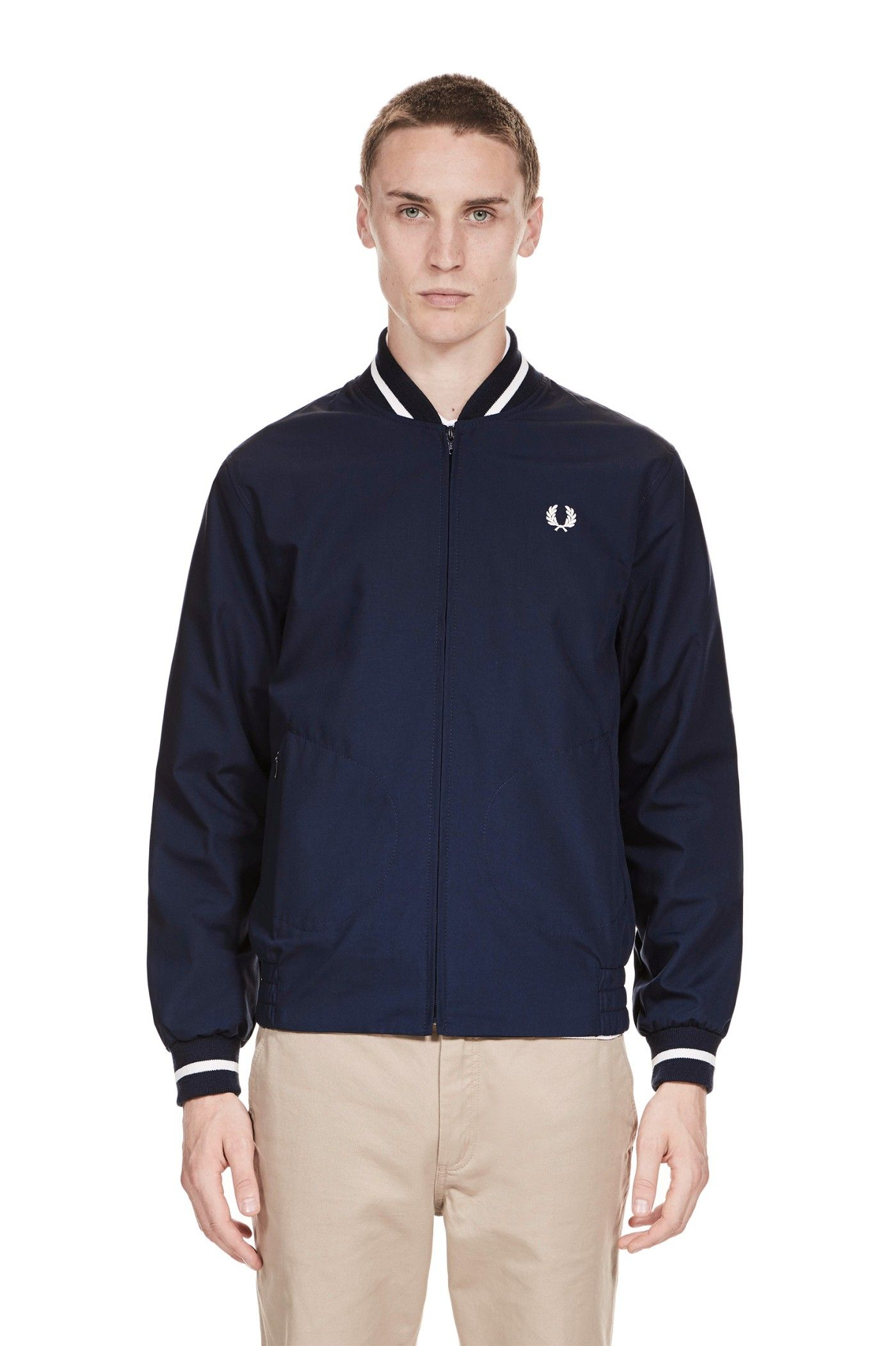 898ada520 Fred Perry - Reissues Made In England Tennis Bomber Navy / Ecru | SH ...