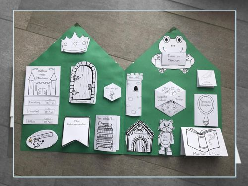 vorlagen m rchen lapbook zaubereinmaleins designblog m rchen kindergarten fairy tales. Black Bedroom Furniture Sets. Home Design Ideas