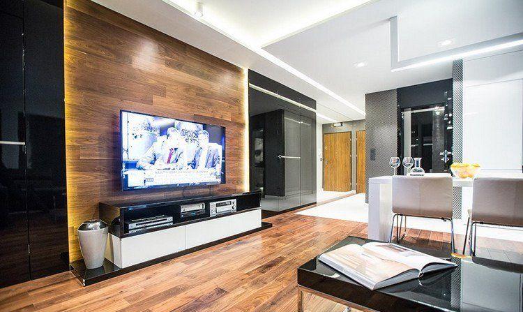 cran plat mural une option l gante pour le salon moderne pinterest cran plat salons. Black Bedroom Furniture Sets. Home Design Ideas