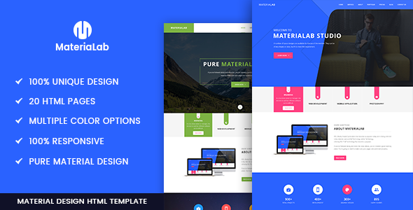 Materialab Multi Concept Material Html5 Template