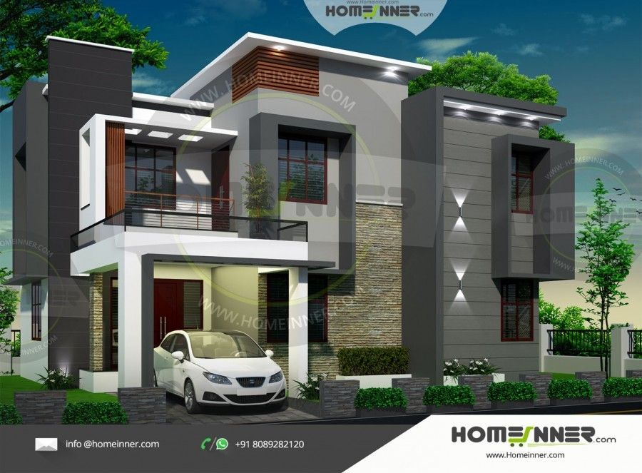 1804 Sq Ft 4 Bedroom Best Duplex Designs In India Free House Plans Contemporary House Plans Duplex Design