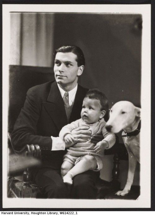 Olivier, a baby and a puppy. Overload.