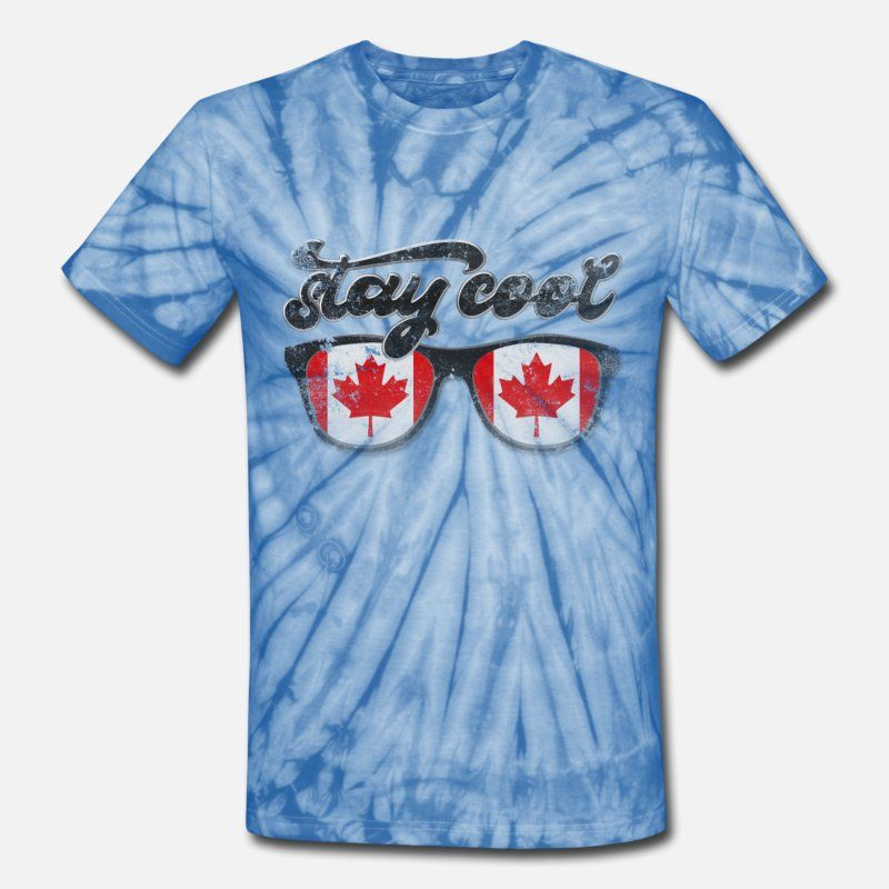 5ca239e6b sunglasses Canada flag stay cool vintage Unisex Tie Dye T-Shirt ...