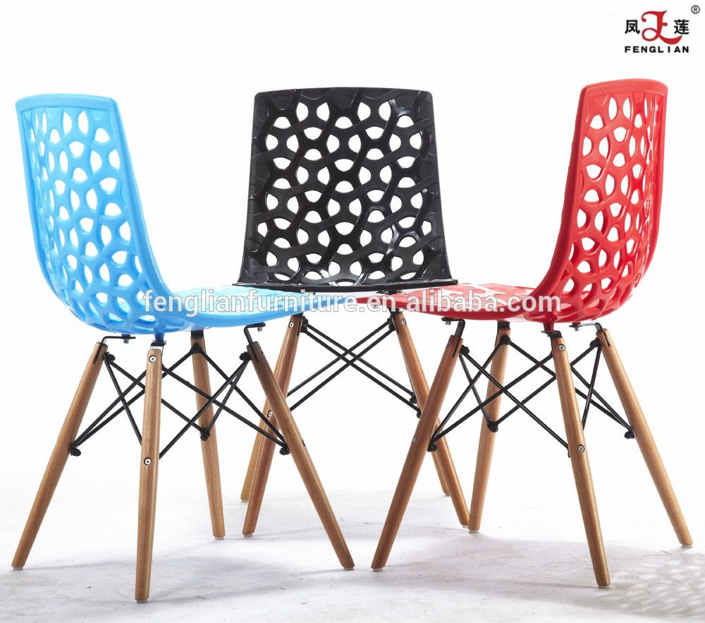Colored Plastic Chairs With Holes On The Back / Colorful ...