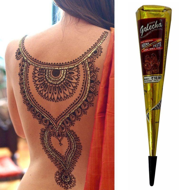 Henna Belly Chain Tattoo