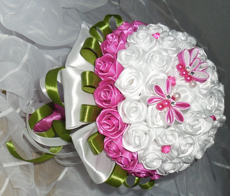 Свадебный букет цветы из лент мастер класс, инструменты для