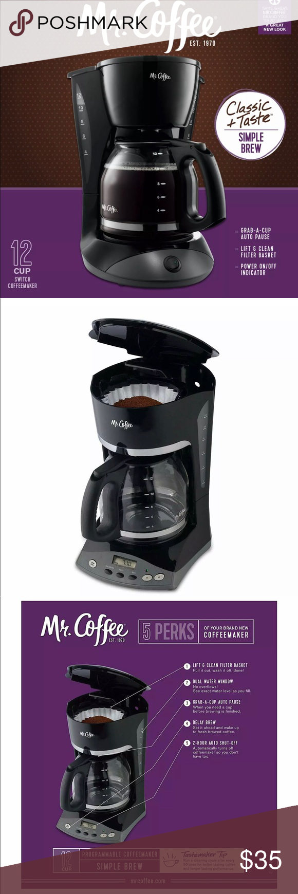Mr Coffee 12 Cup Programmable Coffee Maker Black Coffee Maker Coffee Maker