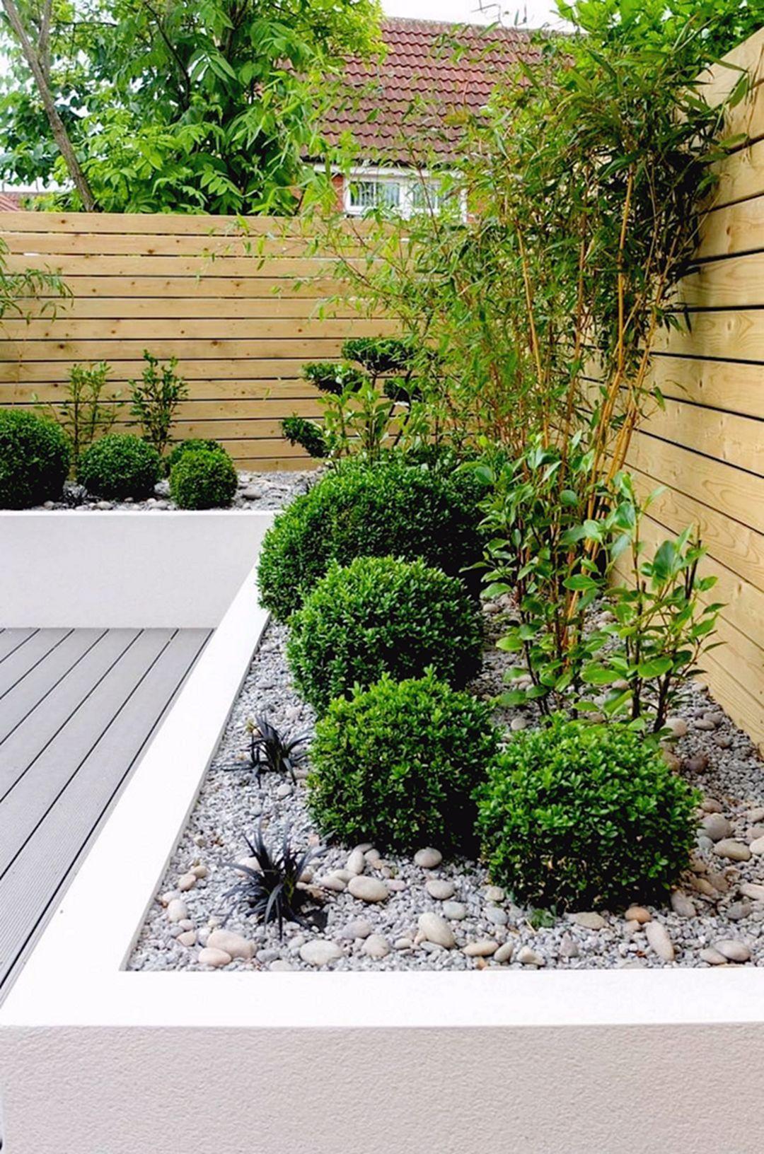 9 Aesthetically And Easy Maintenance Garden Ideas In 2020 Low Maintenance Garden Design Minimalist Garden Small Backyard Design