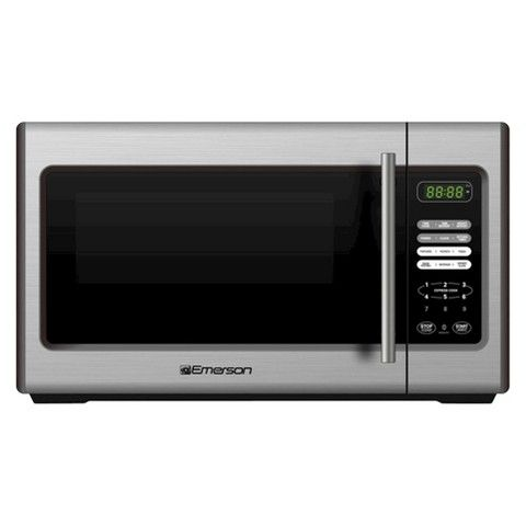 Emerson 900 Watt Stainless Steel Microwave Oven Mw9338sb