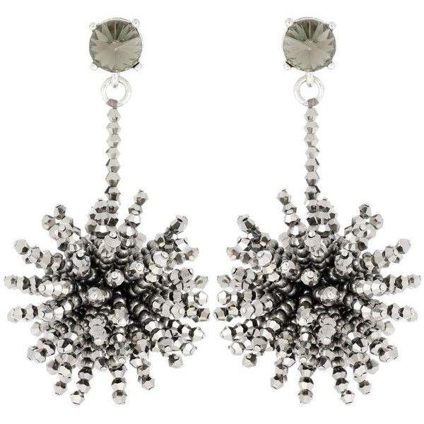 Crystal-embellished beaded earrings Oscar De La Renta zvt3T