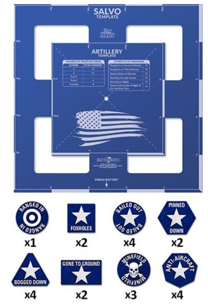 Flames Of War Team Yankee Template Token Set Usa Flames Of